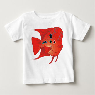 Red Flowerhorn Fish Baby T-Shirt