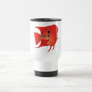 Red Flowerhorn Fish Mug