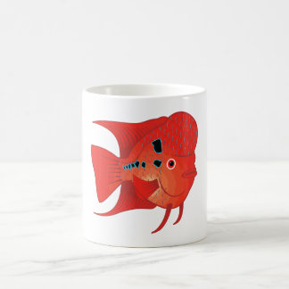 Red Flowerhorn Fish Mugs