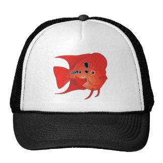 Red Flowerhorn Fish Trucker Hat
