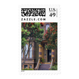 Red Flowering Gum Tree Frames Victorian Style Stamp