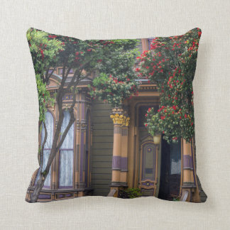 Red Flowering Gum Tree Frames Victorian Style Throw Pillow