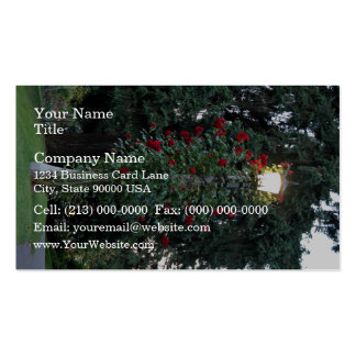 Red flowering plant in the park business card