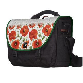 Red Flowering Poppy Commuter Bags