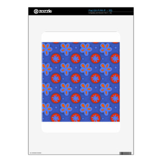Red Flowers #2 iPad Decals