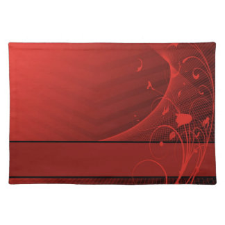 red flowers American MoJo Placemats