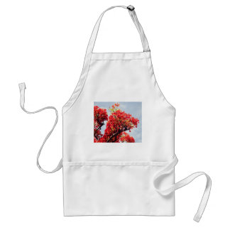 red flowers apron