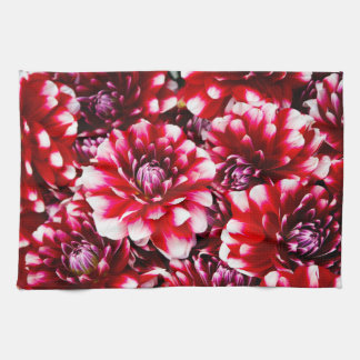 Red Flowers Art Hand Towel