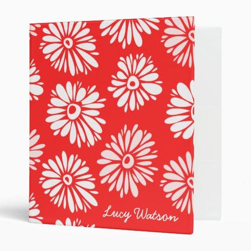 Red Flowers Binder