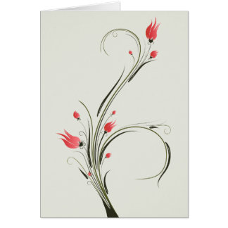 Red Flowers Bouquet card