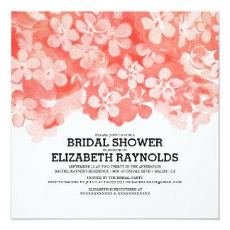 Red Flowers Bridal Shower Invitations Invitations