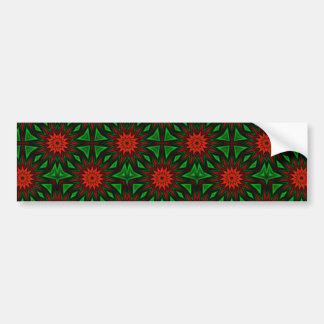 Red Flowers Bumper Stickers