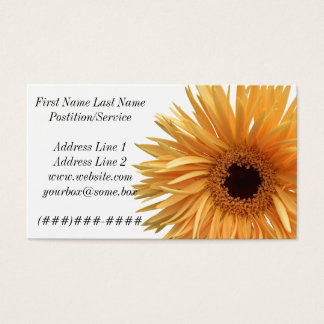 Red Flowers Business Card