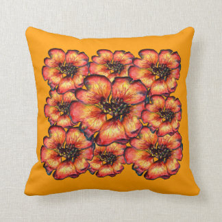 Red Flowers by Alexandra Cook Throw Pillow