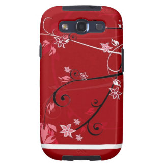 Red flowers samsung galaxy SIII cases