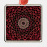 Red Flowers Christmas Tree Ornament