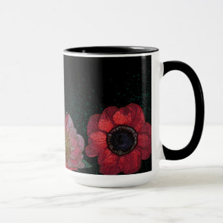 Red flowers Combo Mug