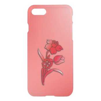 Red Flowers Daffodil iPhone 7 Case