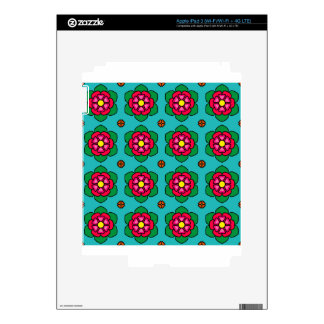 Red Flowers Decals For iPad 3