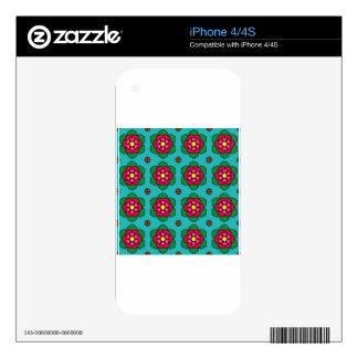 Red Flowers Decals For The iPhone 4S