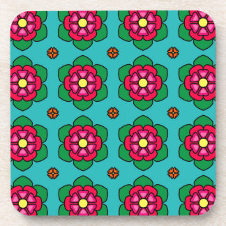 Red Flowers Drink Coaster