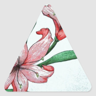 Red flowers ELD Design Triangle Sticker