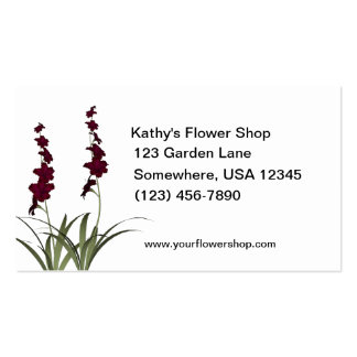 Red Flowers Florist Shop Double-Sided Standard Business Cards (Pack Of 100)