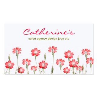 red flowers garden design Double-Sided standard business cards (Pack of 100)