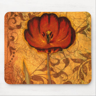 Red Flowers I Mouse Pad