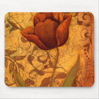 Red Flowers II Mouse Pad