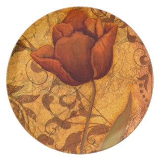 Red Flowers II Plate