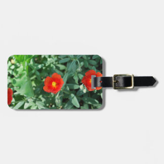 Red Flowers in Greenery - Wonderful Nature Luggage Tag
