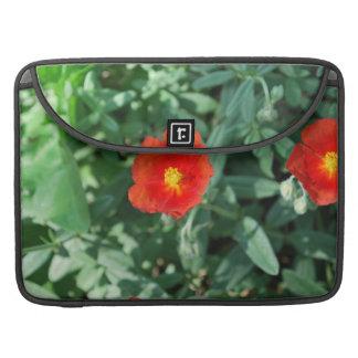 Red Flowers in Greenery - Wonderful Nature MacBook Pro Sleeves