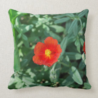 Red Flowers in Greenery - Wonderful Nature Pillow