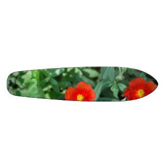 Red Flowers in Greenery - Wonderful Nature Skateboard Deck
