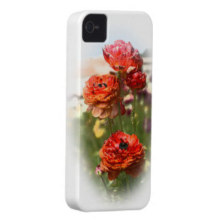 Red Flowers iPhone 4 Cases