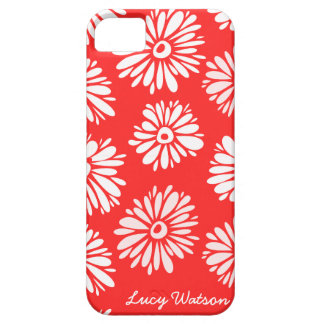 Red Flowers iPhone 5 Case iPhone 5 Cases
