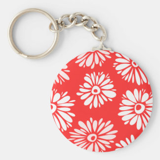 Red Flowers Keychain