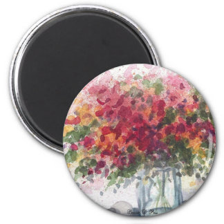 Red Flowers Magnet