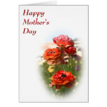 Red Flowers Mother's Day Card