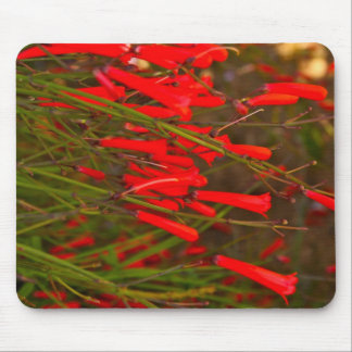 Red Flowers Mouse Mat Mouse Pad