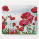 Red flowers mouse mats