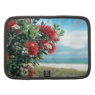 Red flowers paradise beach New Zealand summer Planner