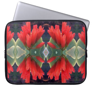 Red Flowers Pattern Computer Sleeve
