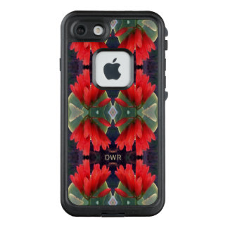 Red Flowers Pattern LifeProof FRĒ iPhone 7 Case