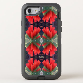 Red Flowers Pattern OtterBox Defender iPhone 8/7 Case