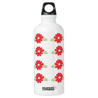 Red Flowers Pattern SIGG Traveler 0.6L Water Bottle