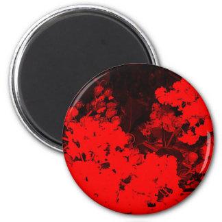 Red Flowers Pop Art Fridge Magnets