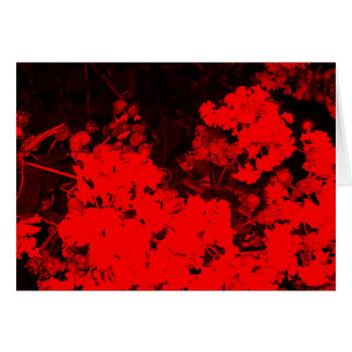 Red Flowers Pop Art Greeting Card