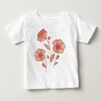 Red flowers (poppy) baby T-Shirt